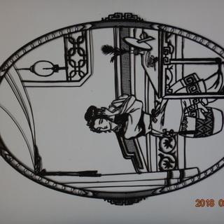 薄いブリキ製の切り絵