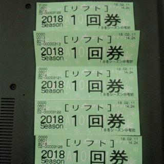 富士見パノラマスキー場 (スキー・スノボ滑走可) 回数券5枚