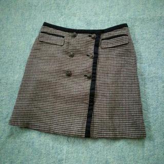 定価6990円&未使用♪INDEXワールド Mサイズ 千鳥格子スカート