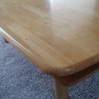 ローテーブル*ナチュラル - 家具