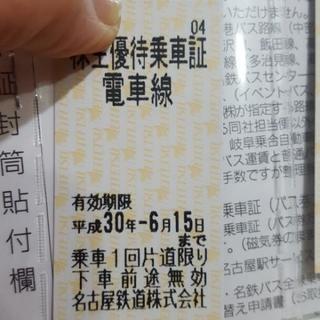 値引き有り‼名古屋鉄道 株主優待乗車券1枚900円