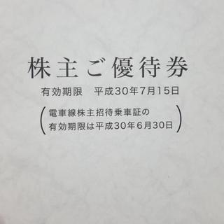 タイムセール‼株主優待券、乗車券4枚付き