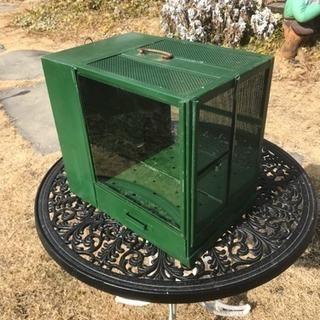 レトロなブリキの飼育箱
