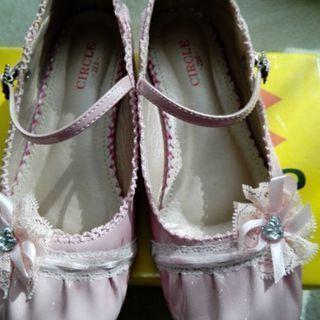 女児 発表会用 靴 22センチ ピンク