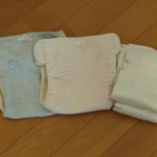 布おむつカバー2枚 80センチ 色落ちあり