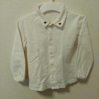 ◆FAMILIAR◆90 襟もと刺繍あり ウエスト部分シミあり