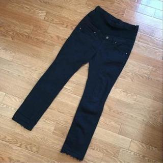 マタニティ パンツ ズボン 綿パン 黒 ブラック 妊婦服 妊婦