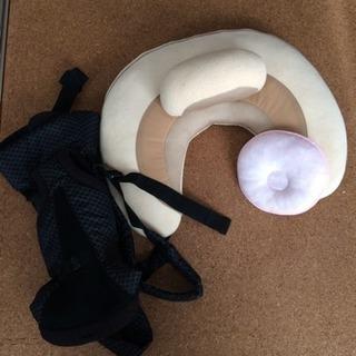 授乳まくらベビー枕抱っこ紐セット