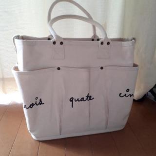 ポケットいっぱい♥自立トートバッグ♥