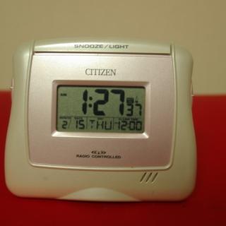 再再再値下げ品 シチズン製デザイン性高い精巧電波目覚まし置時計