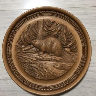 カナダの手彫り木彫壁掛け、差し上げます!