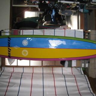 ロングボード Mモーメンツ長さ9.4F修理済みカラーリングリメイク品
