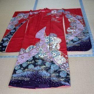 正絹振袖,袋帯,帯締め,長襦袢,ショール,バッグ等