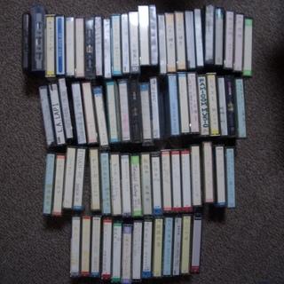 各種音楽のカセットテープ