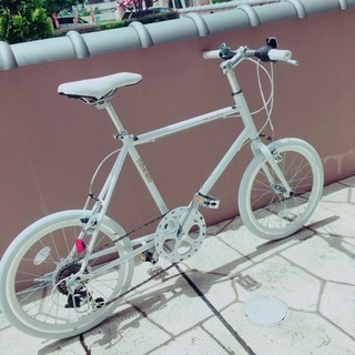 【取引成立】 ミニベロ 自転車 ホワイト