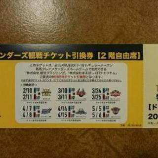 群馬クレインサンダーズ観戦チケット引換券【2階自由席】