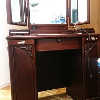 ◆ドレッサー 三面鏡 レトロ アンティーク 椅子もあります◆
