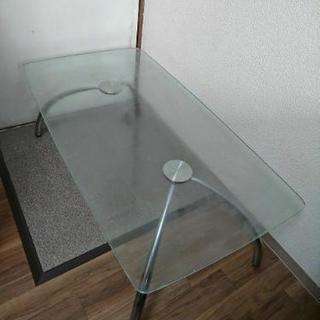 【限定/値下】ガラステーブル
