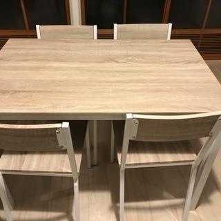 ダイニングテーブル椅子4脚セット!