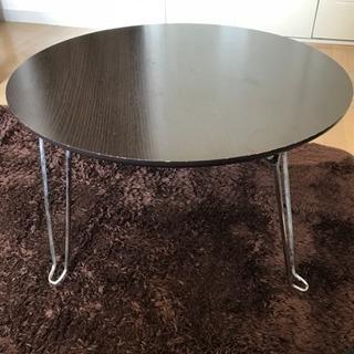 【美品】折りたたみ円テーブル