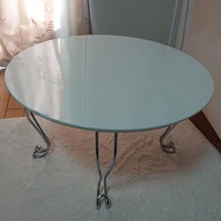 ねこ脚ラウンドテーブル(白)ローテーブル