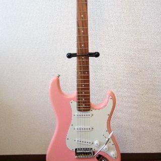 ※売却済み PLAYTECH エレキギター スタンド付き、ソフト...