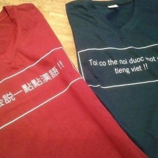 ベトナム&台湾 デザインTシャツ (新品未使用)
