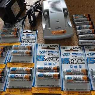 どっさり まとめて繰り返し使用できる電池セット 総額余裕1万円以上