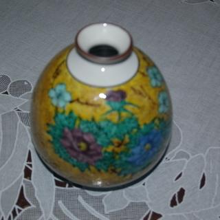 再再値下げ品 九谷仙春の細口花瓶