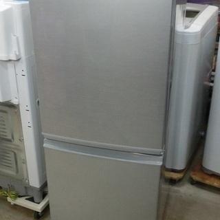 SHARP 2ドア 冷凍冷蔵庫 SJ-D14A 2015年製 中古美品
