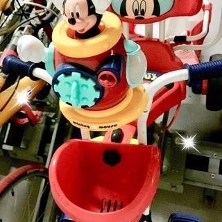 ポップンカーゴ三輪車 ミッキーマウス レッド
