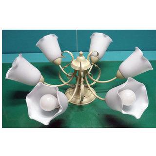 シャンデリア LED 照明 直付 10畳まで 幅70cm 奥行7...
