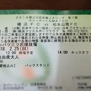 2/25 横浜FCvs松本山雅FC アウェイA自由席 三ツ沢球技場
