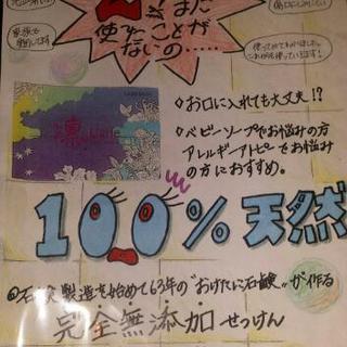 石鹸、シャンプーの無料モニター募集 2回目