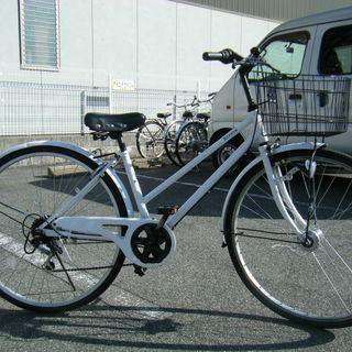 中古自転車94(防犯登録無料) シティサイクル 27インチ 6段ギ...