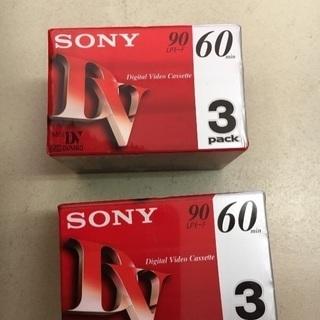 未使用品☆SONY☆MiniDVテープ 60分 3本 3DVM6...