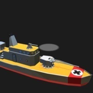 ドイツ風戦闘艦3Dモデル作りました!