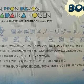 菅平高原スキー場 リフト券