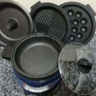 ホットプレート式鍋、たこ焼き器など