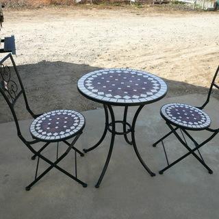 モザイク ガーデン テーブル チェア