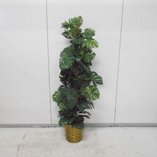 人工観葉植物 モンステラヘゴポット 美品  【リサイクルショップサルフ】