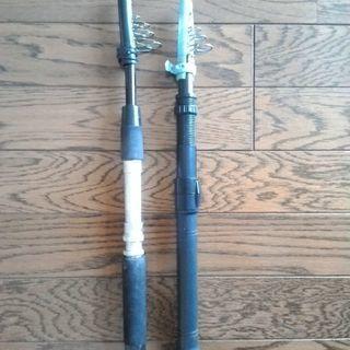 穴釣り用竿(1.5mと1.8m)の2本