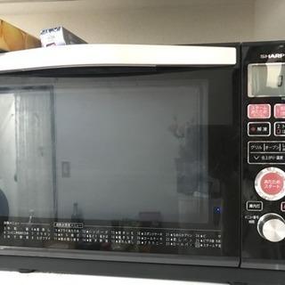 シャープ 過熱水蒸気オーブンレンジ23Lトースト機能付き ブラッ...