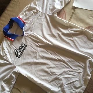 asics サッカーシャツ 白