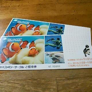 新江ノ島水族館入園券2枚一組¥2000