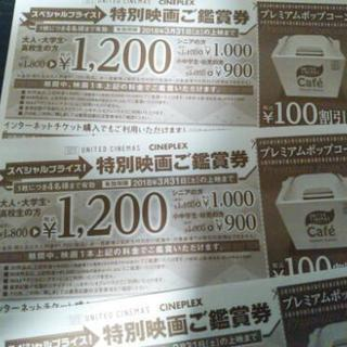 1枚で4人まで🐻映画鑑賞+ポップコーン割引券(o・д・)