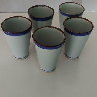 値下げ 湯のみ   ビールグラス5個