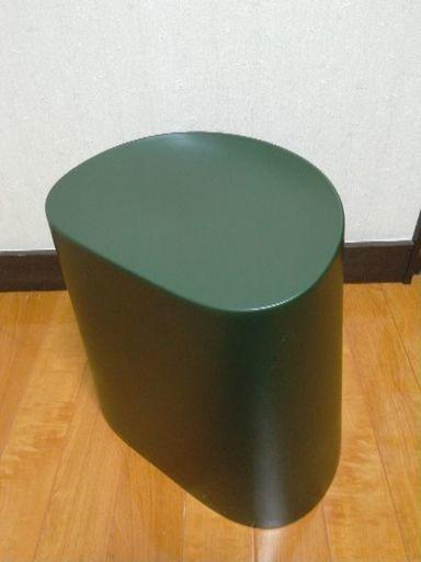 無印良品 スタッキングスツール グリーンの画像