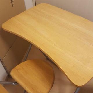 差し上げます!折り畳み机と椅子のセット