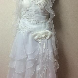 2万円 ウエディングドレス 19号くらい(サイズ調節可能)